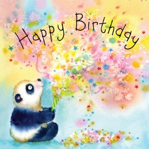 FIZ42  Panda Happy Birthday Card